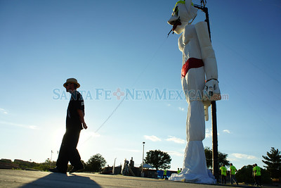The annual 90th burning of Zozobra at Ft. Marcy Park, Santa Fe on Friday August 29, 2014. . Photo by Luke E. Montavon/The New Mexican