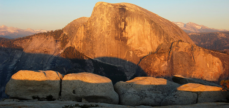 Half Dome from the top of North Dome