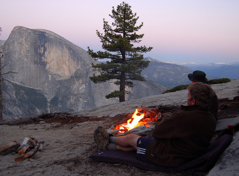 Relaxing by the fire...What a view