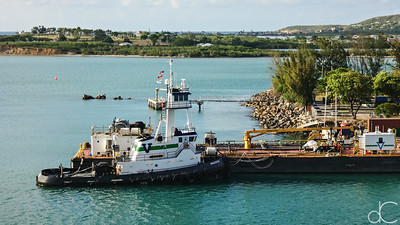 Tug, Port of St. John, Antigua and Barbuda, May 2018.