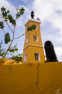 Fort Oranje and Cannon, Kralendijk, Bonaire, June 2019.