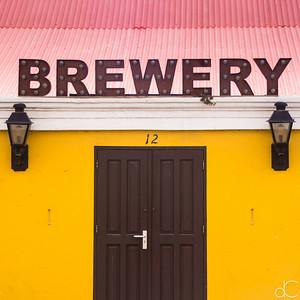Bonaire Blond Brewery, Kralendijk, Bonaire, June 2019.