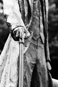 Statue of Nikola Tesla, Niagara Falls, Ontario, Canada, August 2018.