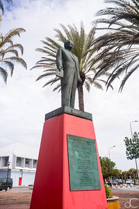Statue of Dr. Efrain Jonckheer, Willemstad, Curacao, June 2019.
