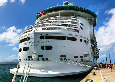Royal Caribbean Freedom of the Seas, Port Zante, Basseterre, St. Kitts, May 2018.
