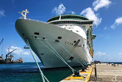 Royal Caribbean Freedom of the Seas, Port of St. Maarten, May 2018.