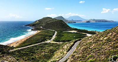 Looking South from Timothy Hill, St. Kitts, May 2018.