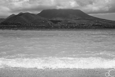 Nevis from Cockleshell Beach, St. Kitts, May 2018.