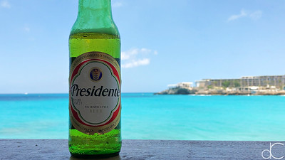 Presidente, Sunset Bar and Grill, Maho Bay, St. Maarten, May 2018.