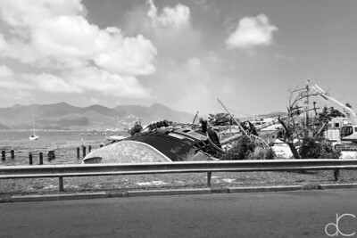 Hurricane Damage, St. Maarten, May 2018.