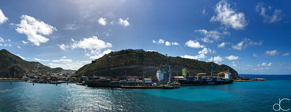 Port of Sint Maarten, Netherlands Antilles, May 2018.