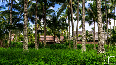 Queens' Cottage and Dining Building, Coco Palms Resort, Kapa'a, Hawai'i, June 2014.