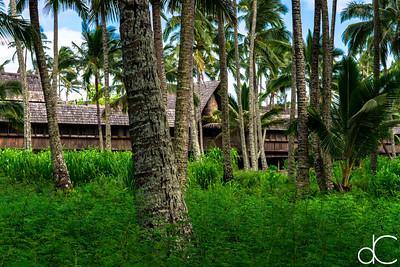 Dining Building, Coco Palms Resort, Kapa'a, Hawai'i, June 2014.