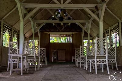Wedding Chapel, Coco Palms Resort, Kapa'a, Hawai'i, June 2014.