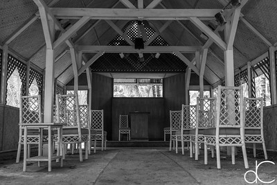 Wedding Chapel, Coco Palms Resort, Kapa'a, Hawai'i, June 2014.