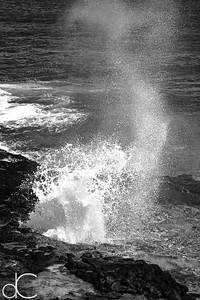 Spouting Horn Blowhole, Kaua'i, June 2014.
