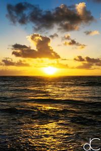 Kaua'i Sunrise, Kapa'a, June 2014.