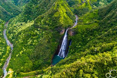 Manawaiopuna Falls (Jurassic Park Falls), Kaua'i, June 2014.