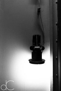 Passageway Light, Battleship Missouri Memorial, Pearl Harbor, Hawai'i, June 2014.