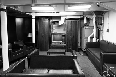 Chief Petty Officers' Lounge, Battleship Missouri Memorial, Pearl Harbor, Hawai'i, June 2014.