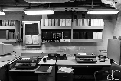 Master at Arms' Office, Battleship Missouri Memorial, Pearl Harbor, Hawai'i, June 2014.