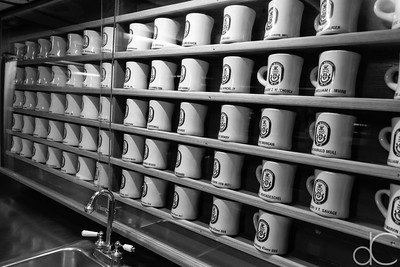 Coffee Mugs, Chief Petty Officers' Lounge, Battleship Missouri Memorial, Pearl Harbor, Hawai'i, June 2014.