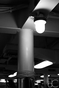 Overhead Light, Battleship Missouri Memorial, Pearl Harbor, Hawai'i, June 2014.