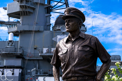 Admiral Chester Nimitz Statue, Battleship Missouri Memorial, Pearl Harbor, Hawai'i, June 2014.