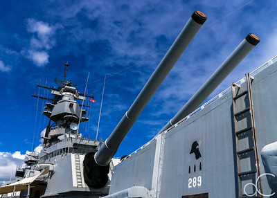 Forward Main Guns of the USS Missouri, Pearl Harbor, Hawai'i, June 2014.
