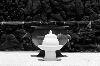 Vessels, Mu Ryang Sa Temple, Hawai'i, June 2014.