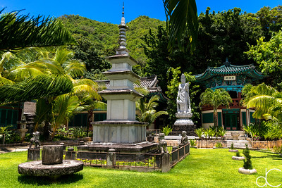 World Peace Pagoda, Mu Ryang Sa Temple, Hawai'i, June 2014.
