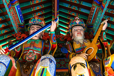 Inside the Gate of the Four Heavenly Kings, Mu Ryang Sa Temple, Hawai'i, June 2014.