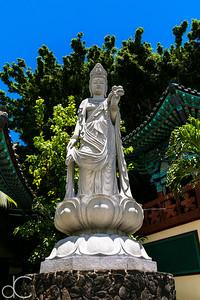 Kwan Yin Bodhisattva, Mu Ryang Sa Temple, Hawai'i, June 2014.