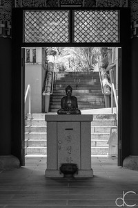 Buddha Statue Inside the Gate of the Four Heavenly Kings, Mu Ryang Sa Temple, Hawai'i, June 2014.