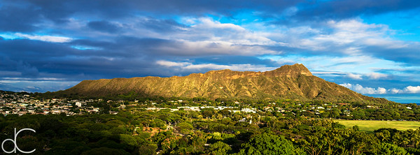 Diamond Head in Evening Light, Honolulu, Hawai'i, June 2014.