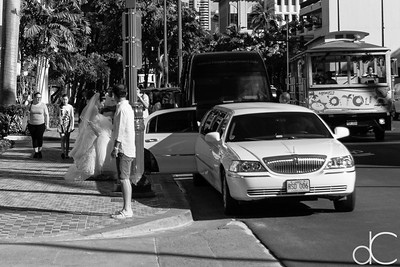 Stopping Traffic in Waikiki, Honolulu, Hawai'i, June 2014.