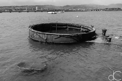 Base of Gun Turret Number 3, USS Arizona Memorial, Pearl Harbor, Hawai'i, June 2014.