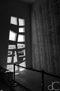 Shrine Room, USS Arizona Memorial, Pearl Harbor, Hawai'i, June 2014.