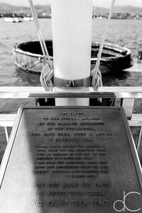 Dedication Plaque of the USS Arizona Memorial, Pearl Harbor, Hawai'i, June 2014.
