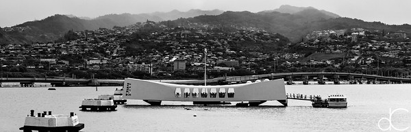The USS Arizona Memorial, Pearl Harbor, Hawai'i, June 2014.