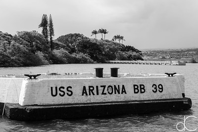 Mooring Quay of the USS Arizona, Pearl Harbor, Hawai'i, June 2014.