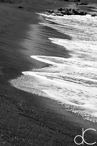 Waves, Punalu'u Black Sand Beach, Hawai'i, June 2014.