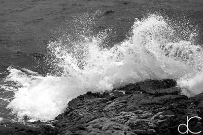 Crashing Wave, Punalu'u Black Sand Beach, Hawai'i, June 2014.