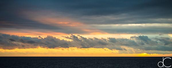 Big Island Sunset, Keauhou Bay, Kailua-Kona, Hawai'i, June 2014.