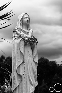 Virgin Mary Statue, Saint Benedict Roman Catholic Church, Captain Cook, Hawai'i, June  2014.