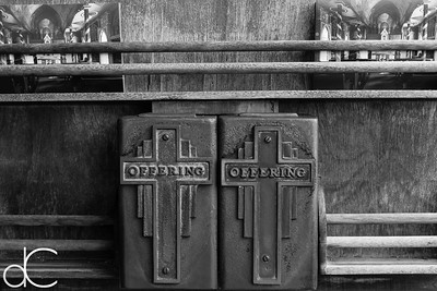 Offering Boxes, Saint Benedict Roman Catholic Church, Captain Cook, 2014.