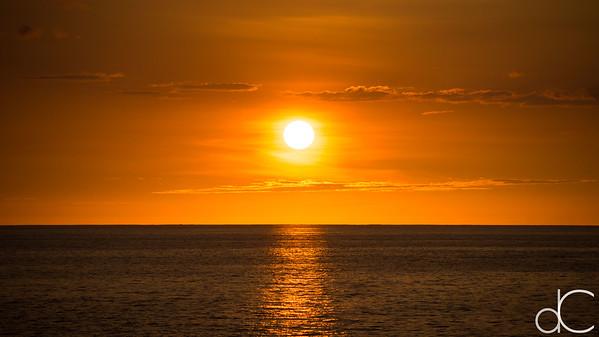 Sunset, Keauhou Bay, Kailua-Kona, Hawai'i, June 2014.