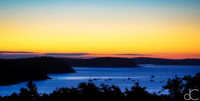Dawn Over Frenchman Bay, Bar Harbor, Maine, August 2011.