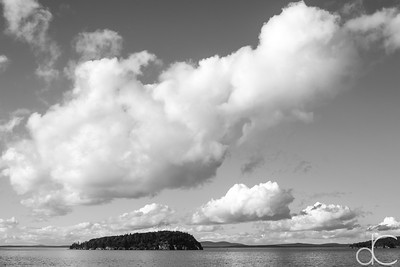 Clouds Over Frenchman Bay, Bar Harbor, Maine, August 2011.
