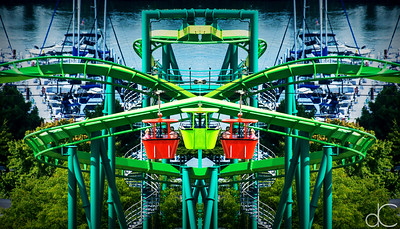 Raptor and Sky Ride, Cedar Point Amusement Park, August 2016.